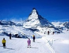Take in the view of the Matterhorn from this charming hotel in Zermatt, Switzerland