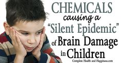 Chemicals Causing a Silent Epidemic of Brain Damage in Children -   A new report is sounding the alarm of a silent epidemic of childhood neurological disorders linked to neurotoxic compounds.   Toxic chemicals rampant in American homes and consumer goods are causing a silent epidemic of brain damage in children, says a new report published in The Lancet. While...