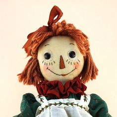 "OOAK Janie Comito Vintage 2003 10'"" Holiday Raggedy Ann ~ Specially  Dressed. Top bid: $450."