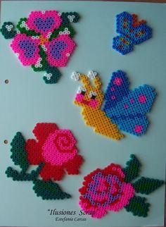 Garden hama beads by ILUSIONES SCRAP