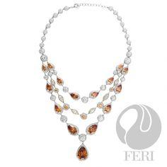 FERI - Destiny Awaits - Necklace Mocha Brown, Colored Diamonds, Stone, Destiny, Silver, Jewelry, Rock, Jewlery, Money