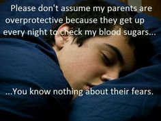 Unless you are a parent of a Type 1 Diabetic it is impossible for you to understand all the fears associated with Type 1 Diabetes. Even my diabetic children don't understand. Diabetes Memes, Cure Diabetes, Gestational Diabetes, Diabetes Diet, Diabetes Recipes, Type One Diabetes, Diabetes Information, Diabetes In Children, Diabetes Awareness