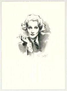 """Maly Siri - Pin-up Art, Illustration originale intitulée """"Ma"""