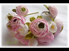 Цветы из фоамирана - Ранункулюсы  /Flowers foamirana - Ranunkulyusy - YouTube