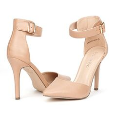 DREAM PAIRS OPPOINTED-ANKLE Women's Pointed Toe Ankle Strap D'Orsay High Heel Stiletto Pumps Shoes Nude Pu Size 10... Featuring pointy toe front, glossy patent upper, stiletto heel, lightly padded insole,along with one smal adjustable ankle strap with buckle closure. FITTING TIPS: TRUE TO SIZE!!FITTING TIPS: RUNS TRUE TO SIZE!!Heel height: 4″ (approx)Platform height: 0.50″ (Approx)TPR rubber......http://bit.ly/2j0ncwK