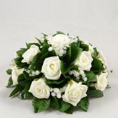 Ivory Rose Wedding Table Centre Decoration Arrangement