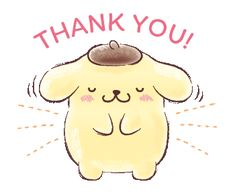 LINE Official Stickers - Pompompurin (Watercolor Style) Example with GIF Animation Sanrio Wallpaper, Cute Anime Wallpaper, Thank You Gifs, Thanks Gif, Amazing Gifs, Kawaii, Thank You Stickers, Sanrio Characters, Little Twin Stars