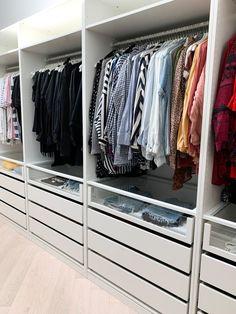 HARD TO BELIEVE IT'S IKEA! — THREE BIRDS RENOVATIONS Walk In Closet Ikea, Ikea Pax Closet, Ikea Wardrobe, Walk In Closet Design, Wardrobe Organisation, Bedroom Closet Design, Master Bedroom Closet, Wardrobe Storage, Bedroom Wardrobe