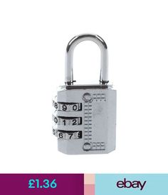 Travel Accessories Combination Padlock Travel Suitcase Luggage Lock Password Reset Type: 3 X1X5 #ebay #Home & Garden