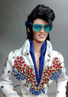BONECOS DO BABY: Boneco Elvis Presley customizado por Marcus Baby