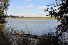 """Obecny czerwony """"Szlak pięciu jezior"""" był już przed II wojną światową atrakcyjną trasą wędrówkową.  www.it.mragowo.pl"""