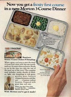 ~ Morton 3-Course Dinner, Good Housekeeping, March 1969via Modern Mechanix
