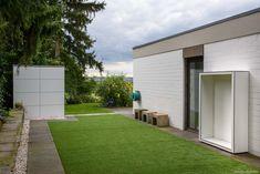 Design Gartenhaus @_gart & Holzlager @_wood in  Bonn by design@garten - Augsburg, Germany  UV-beständig - niemals streichen! #Gartenhaus #Gerätehaus #HPL #design@garten