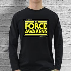eBlueJay: STAR WARS THE FORCE AWAKENS UNISEX LONG SLEEVE T-SHIRT - SIZES SM/MD/LG/XL/2XL/3XL $19.99 Gifts For Hubby, Star Wars Vii, Love My Husband, Graphic Sweatshirt, T Shirt, Long Sleeve Shirts, Unisex, Stars, Sweatshirts