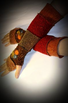 recycled sweater arm warmers from justmystylerecycl... - from my friend Nora!