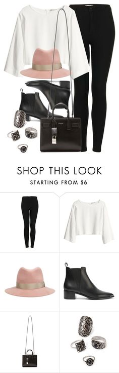 """Style #10584"" by vany-alvarado ❤ liked on Polyvore featuring Topshop, H&M, rag & bone, Acne Studios, Yves Saint Laurent and Forever 21"