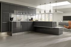 Grey Gloss Kitchen New Fully Fitted Kitchens In Shropshire And - Dark grey gloss kitchen