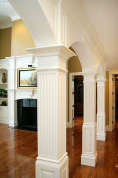 Make Load Bearing Poles Look Like Decorative Columns