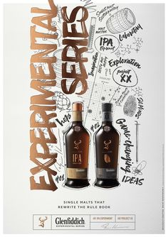 Purple Creative has designed the visual identity for a new range of whiskies called the Glenfiddich Experimental Series.