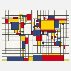 Weltkarte Mondrian