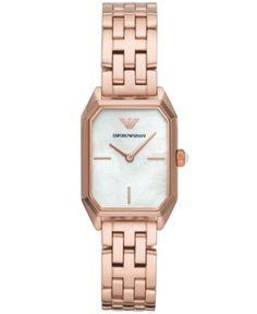 ffcae87c21 Emporio Armani Women's Rose Gold-Tone Stainless Steel Bracelet Watch  24x36mm - Gold. Arany Karóra ...