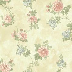 York NV6086 Baton Rouge Vintage Rose Wallpaper