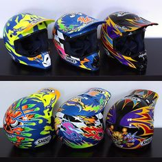 #TBT Shoei's 1996 line of rider replica helmets, all originally painted by...