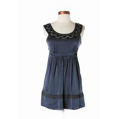 "Kenzie Sz 8 Navy Blue Embroidered Silk Dress EUC Description: •Size 8, A-line •Dark Blue and Gray •Metallic •Embroidered -Measurements: Chest 36"", Length 26"" -Materials: 100% Silk -Condition: This item is gently used with minor signs of wear Kensie Dresses"
