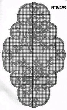 Filet crochet tray dhjuer