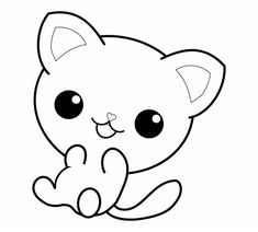 Gatos para colorear 9 Free Kids Coloring Pages, Puppy Coloring Pages, Cat Coloring Page, Coloring Sheets, Coloring Books, Halloween Coloring Pages Printable, Hello Kitty Colouring Pages, Chibi Cat, Sleeping Kitten