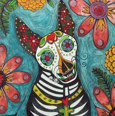 day of the dead tattoo dog - Google Search