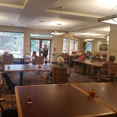 Question: What's the best thing to do on a rainy day at Gilmore Gardens Retirement Residence in Richmond? A: Drinks and trivia, B: Watch rain fall or C: Try to watch an American debate Our residents think the answer is obvious - Cheers to A! 😄🍻
