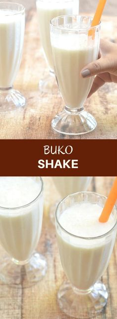 Buko Shake made with young coconut, milk, and simple syrup. It's creamy, refreshing, and the perfect hot weather treat!