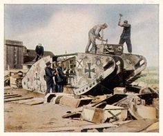 German tanks recycled in compliance with the treaty of Versailles. Pin by Paolo Marzioli