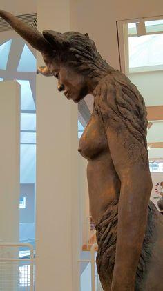 Minotaurus, cast bronze on sandstone base, Nandipha Mntambo, South Aftican, born Atlanta Museums, High Museum, Bronze, Atlanta Georgia, It Cast, Base, Statue, Sculptures, Sculpture