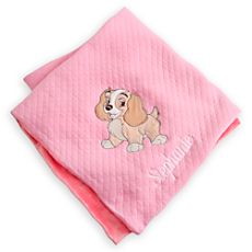 Tramp blanket for baby personalized baby gifts pinterest lady blanket for baby personalized negle Choice Image