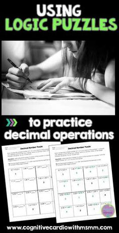 Help your students master decimal operations with logic puzzles. Check out this blog post with free puzzle. #decimals #logic