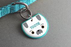 Shih Tzu Dog ID Tag - Cute Dog Accessories, Dog Collar Tag, Small Toy Dogs - Pixsqueaks