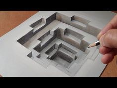 Drawing Incredible Hole Illusion - Trick Art on Paper - VamosART Illusion Kunst, Illusion Drawings, Illusion Art, Easy Illusions To Draw, Amazing Optical Illusions, 3d Art Drawing, Drawing Skills, Hole Drawing, Music Drawings
