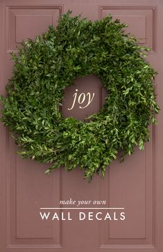 Wall decals are a great way to add a message or make a surface Christmas festive! Check out the blog to learn how!