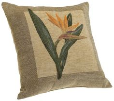 Brentwood Panama Jacquard Chenille 18-by-18-inch Knife Edge Decorative Pillow, Bird of Paradise.  List Price: $19.99  Buy New: $13.97  You Save: 30%  Deal by: SmartPillowShoppers.com