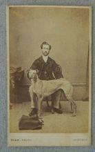 Cartes-De-Visites Photograph Greyhound & Master