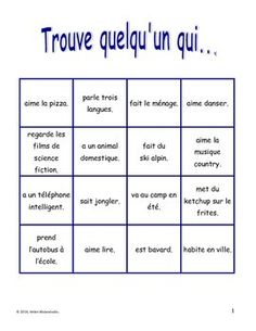 French Back to School Oral Activity - Activité orale pour la rentrée Ap French, Core French, Learn French, French Teaching Resources, Teaching French, French Worksheets, French Education, French Classroom, French Teacher