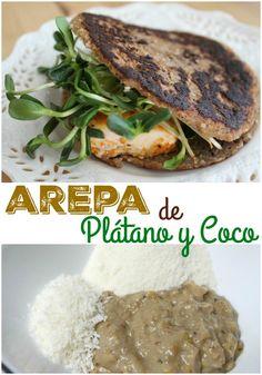 Arepa fit de Plátano y Coco | arepasfit.com