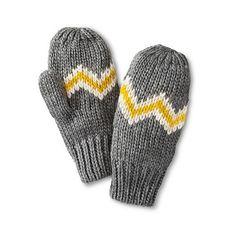 SHANGHAI SHENGDA /AMC/FLC Women's Knit Zig Zag Striped Mittens ($13) ❤ liked on Polyvore