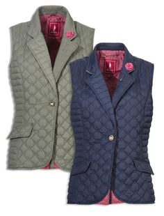 Ladies Body Warmers and Gilets Holland Country, Paisley Quilt, Men's Waistcoat, Body Warmer, Winter Trends, Quilted Vest, Country Outfits, School Fashion, Outdoor Outfit