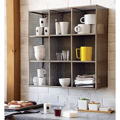"Sift Raw Wall Shelf in wall mounted storage | CB2, 119.00, 24""sq.x8.5""D"