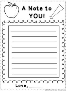 Back to School Night note from parents to students by First Grade Schoolhouse. FREE download at http://firstgradeschoolhouse.blogspot.com/2012/09/back-to-school-night.html