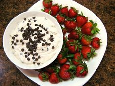 strawberries with cannoli dip.