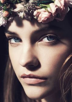 Jason Hetherington Shot Barbara Palvin for Marie Claire UK March #flowercrowns #musicfestivals trendhunter.com